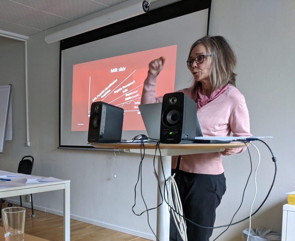 Nina Klarin talar om skörhet